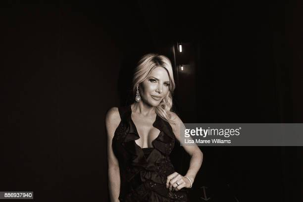 Melissa Tkautz poses backstage during the 7th AACTA Awards Presented by Foxtel at The Star on December 6 2017 in Sydney Australia