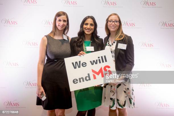 TORONTO ON APRIL Melissa Van Veen Simran Chahal and Hayley Hutchison attended the event The 2017 WAMS Honouree Annette Verschuren OC CEO of NRStor...