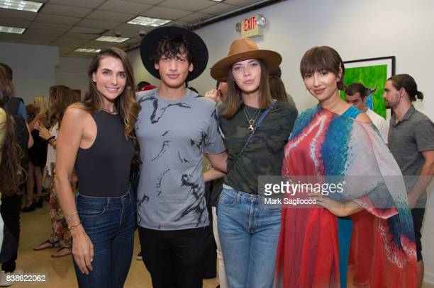 Melissa Wood Fernando Garcia Tina Marie Clark and Actress Jackie Cruz attend Contemporary Figurative Expressionist Artist's Fernando Garcia Debut...