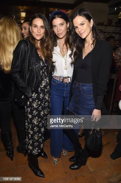 Melissa Wood Tina Marie Clark and Allie Rizzo attend as Aerie celebrates #AerieREAL Role Models in NYC on January 31 2019 in New York City
