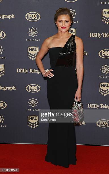 Melissa Wu arrives at the 2016 Dally M Awards at Star City on September 28 2016 in Sydney Australia