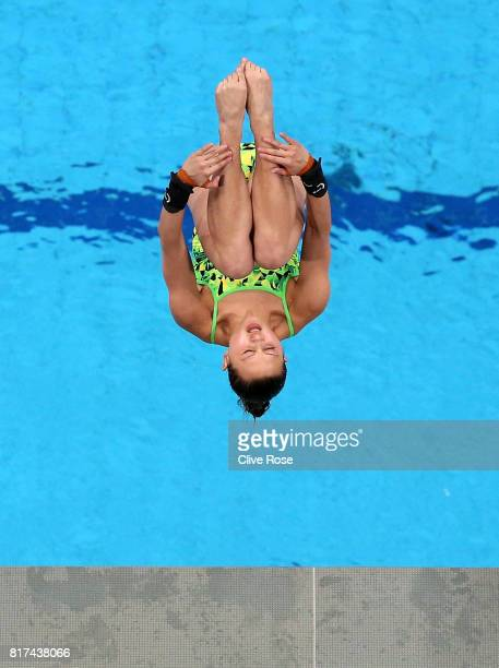 Melissa Wu of Australia competes during the Women's Diving 10M Platform preliminary round on day five of the Budapest 2017 FINA World Championships...