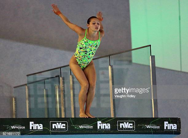Melissa Wu of Australia competes in the Women's 10m Final during Day Two of the FINA/NVC Diving World Series 2016 at the Windsor International...