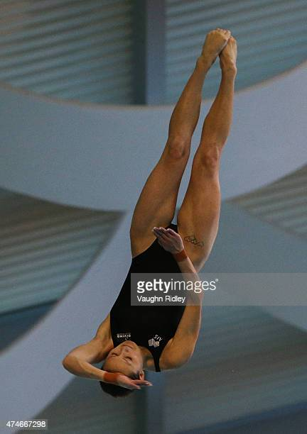 Melissa Wu of Australia competes in the Women's 10m Final during the FINA/NVC Diving World Series at the Windsor International Aquatic Training...