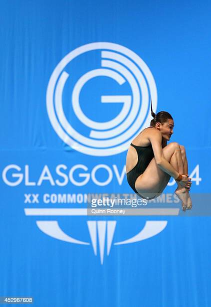 Melissa Wu of Australia competes in the Women's 10m Platform Preliminaries at Royal Commonwealth Pool during day eight of the Glasgow 2014...