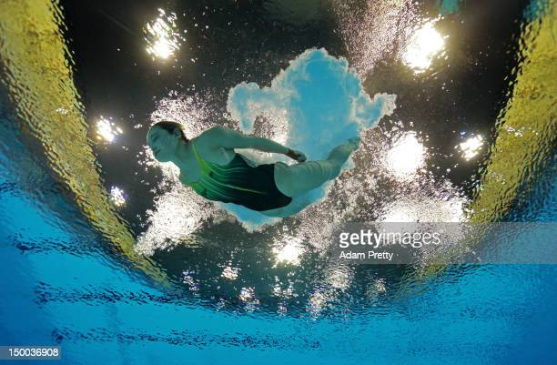 Melissa Wu of Australia competes in the Women's 10m Platform Diving Semifinal on Day 13 of the London 2012 Olympic Games at the Aquatics Centre on...