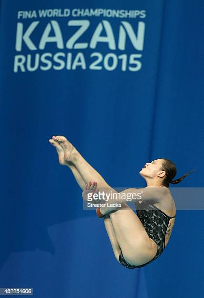 Melissa Wu of Australia competes in the Women's 10m Platform Diving Semifinals on day five of the 16th FINA World Championships at the Aquatics...