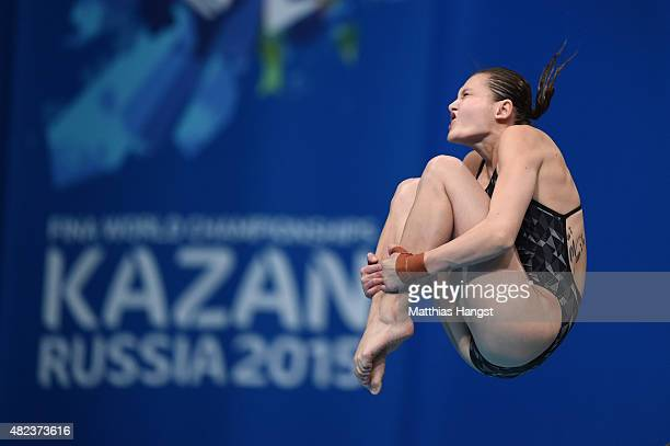 Melissa Wu of Australia competes in the Women's 10m Platform Diving Final on day six of the 16th FINA World Championships at the Aquatics Palace on...