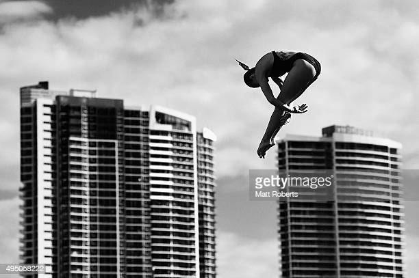 Melissa Wu of Australia competes in the Women's 10m Platform Final during the FINA Diving Grand Prix on October 31 2015 on the Gold Coast Australia