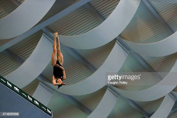 Melissa Wu of Australia competes in the Women's 10m Semifinal A during the FINA/NVC Diving World Series at the Windsor International Aquatic Training...