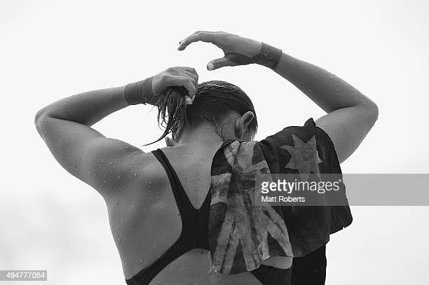 Melissa Wu of Australia prepares during the FINA Diving Grand Prix on October 29 2015 on the Gold Coast Australia