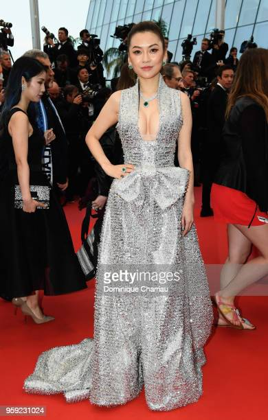 Melissa Zuo attends the screening of 'Burning' during the 71st annual Cannes Film Festival at Palais des Festivals on May 16 2018 in Cannes France