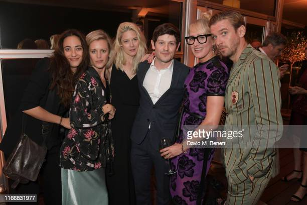 Melissanthi Mahut Denise Gough Zoe Grisedale Iwan Rheon Isabella Macpherson and Dan Stevens attend the ATG Summer Party at Kensington Palace Gardens...