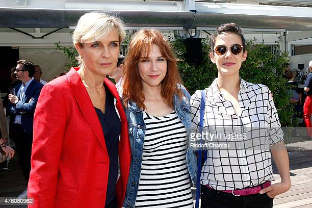 Melita Toscan du Plantier Actresses MarieJosee Croze and Melanie Doutey attend the 2015 Roland Garros French Tennis Open Day Fourteen on June 6 2015...