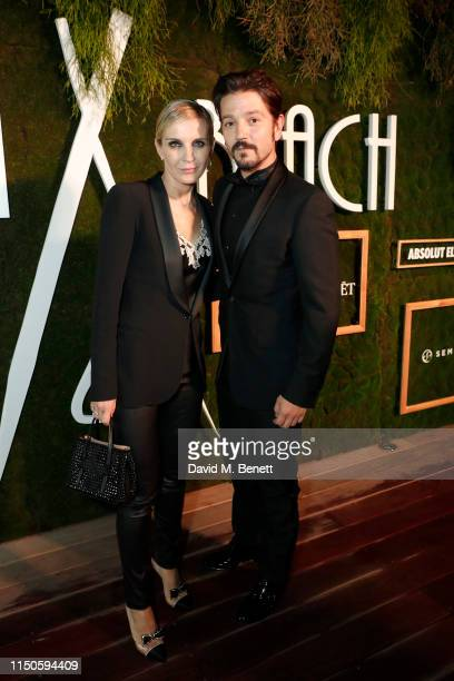 Melita Toscan du Plantier and Diego Luna at Nikki Beach for the Chicuarotes premiere party on May 20 2019 in Cannes France