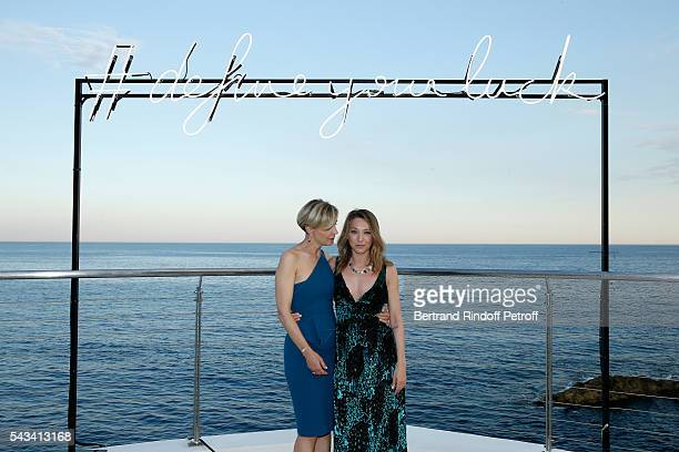 Melita Toscan du Plantier and Laura Smet attend Fred Jeweler Celebrates 80 Years of Creation at Hotel Cap Estel in Eze France on June 23 2016
