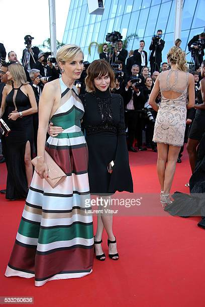 Melita Toscan du Plantier and Marie Josee Croze attend the 'Elle' Premiere during the 69th annual Cannes Film Festival at the Palais des Festivals on...