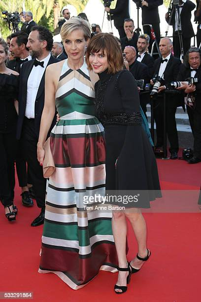 Melita Toscan du Plantier and MarieJosee Croze attend a screening of Elle at the annual 69th Cannes Film Festival at Palais des Festivals on May 21...