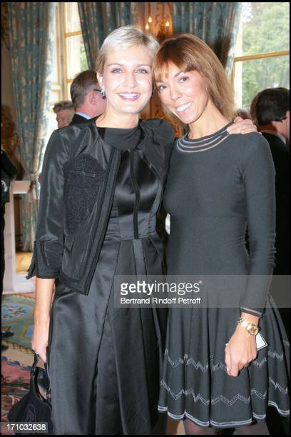 Melita Toscan Du Plantier and Mathilde Agostinelli David Lynch is made Officer of the Legion of Honor at the Elysee palace