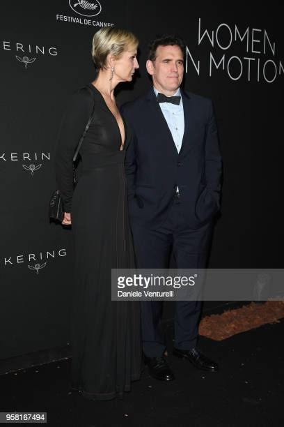 Melita Toscan du Plantier and Matt Dillon attend the Women in Motion Awards Dinner presented by Kering and the 71th Cannes Film Festival at Place de...