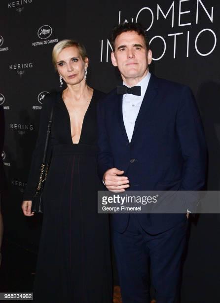 Melita Toscan du Plantier and Matt Dillon attends the Kering Women In Motion dinner during the 71st annual Cannes Film Festival at Place de la Castre...