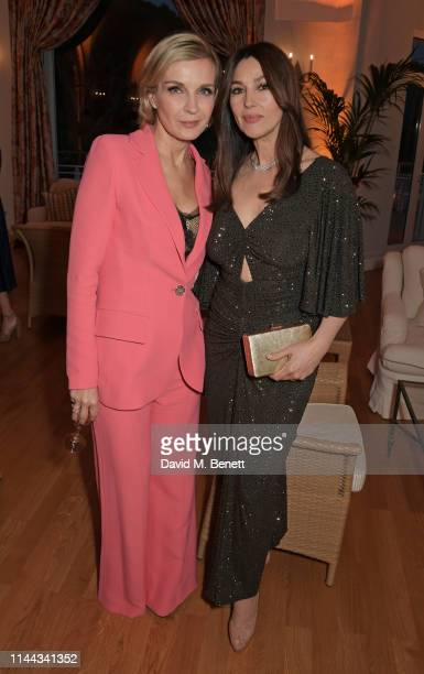 Melita Toscan du Plantier and Monica Bellucci attend the 10th Annual Filmmakers Dinner hosted by Charles Finch Edward Enninful and Michael Kors at...