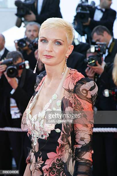 Melita Toscan du Plantier arrives at the premiere of 'Zodiac' during the 60th Cannes Film Festival