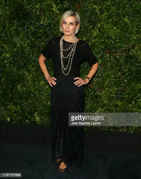 Melita Toscan Du Plantier attends Charles Finch And CHANEL's 11th Annual PreOscar Awards Dinner at Polo Lounge at The Beverly Hills Hotel on February...