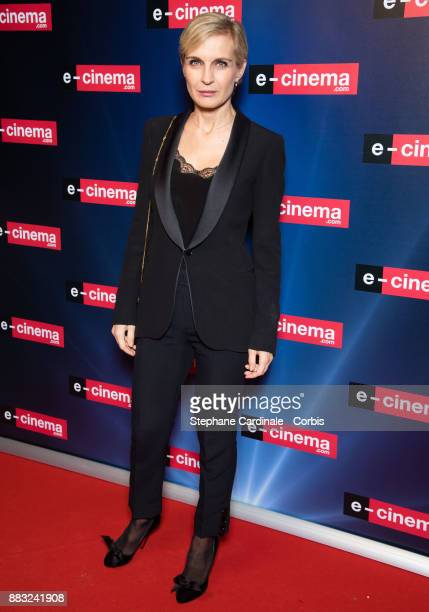 Melita Toscan Du Plantier attends 'ecinemacom' Launch Party at Restaurant L'Ile on November 30 2017 in IssylesMoulineaux France