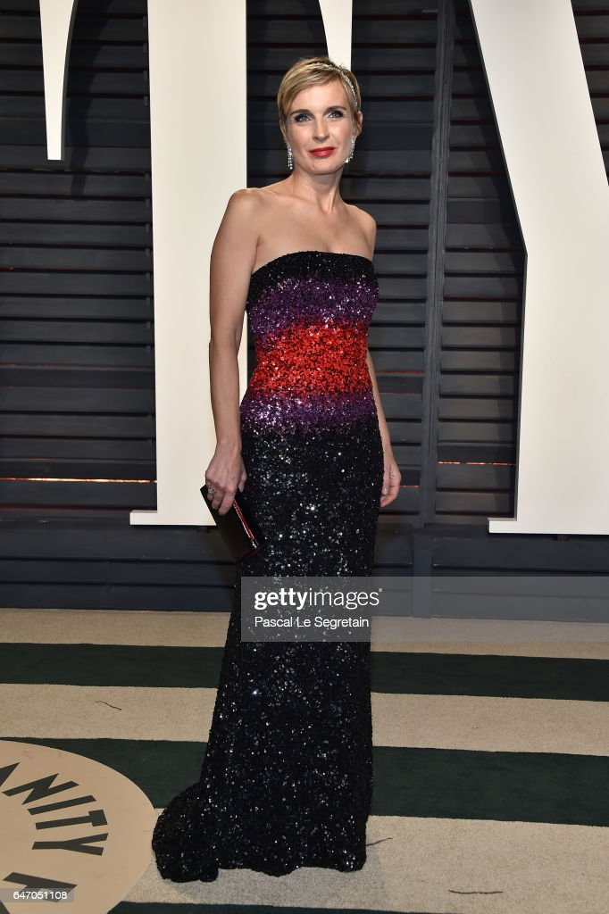 Melita Toscan Du Plantier attends the 2017 Vanity Fair Oscar Party hosted by Graydon Carter at Wallis Annenberg Center for the Performing Arts on February 26, 2017 in Beverly Hills, California.