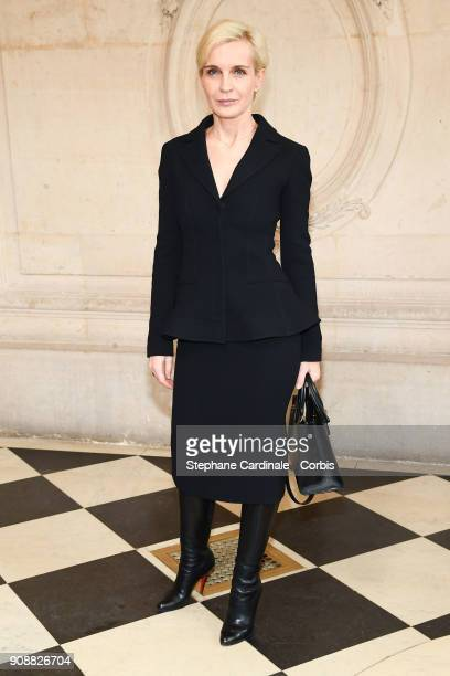 Melita Toscan Du Plantier attends the Christian Dior Haute Couture Spring Summer 2018 show as part of Paris Fashion Week January 22 2018 in Paris...