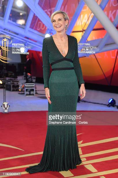 Melita Toscan Du Plantier attends the opening ceremony during the 18th Marrakech International Film Festival on November 29, 2019 in Marrakech,...