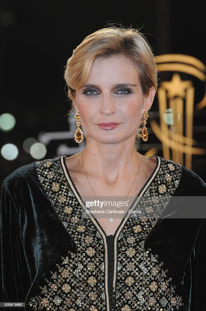 Melita Toscan du Plantier attends the Opening Ceremony of the Marrakech 10th Film Festival.