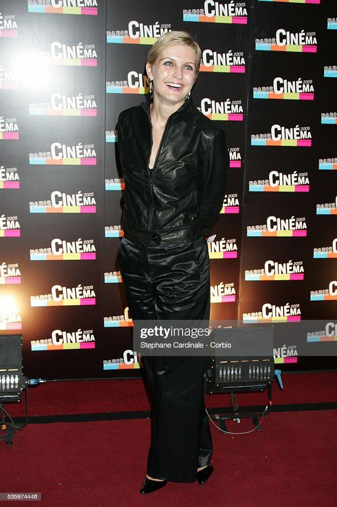 Melita Toscan du Plantier attends the Paris Film Festival premiere of the movie 'L'Avion.'