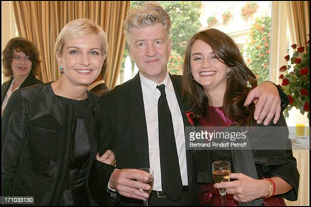 Melita Toscan Du Plantier David Lynch and his wife Emily Stoffle Lunch organized by Cartier in honor of David Lynch at the Bristol hotel in Paris