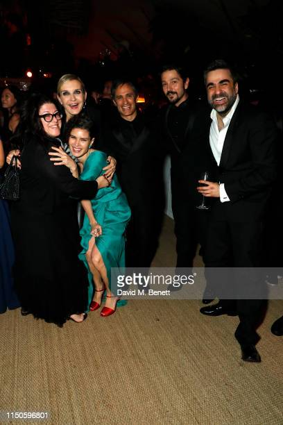 Melita Toscan du Plantier Gael Garcia Bernal and Diego Luna at Nikki Beach for the Chicuarotes premiere party on May 20 2019 in Cannes France
