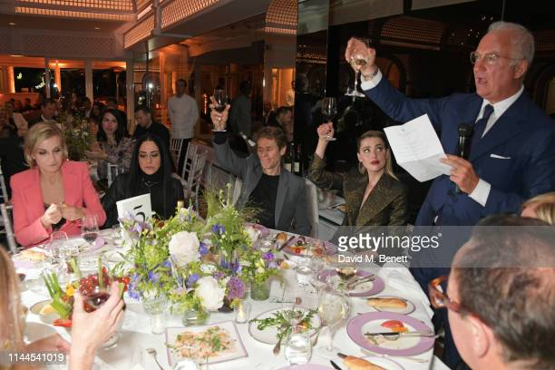 Melita Toscan du Plantier Giada Colagrande Willem Dafoe Amber Heard and CEO of Finch Partners Charles Finch attend the 10th Annual Filmmakers Dinner...