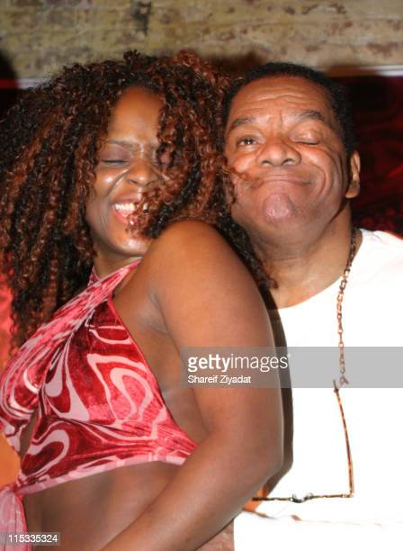 Melky and John Witherspoon during WyClef Jean Performs at PM February 2 2005 at PM in New York New York United States