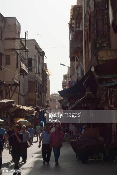 mellah (jewish quarter), fez, morocco - judiskt museum bildbanksfoton och bilder