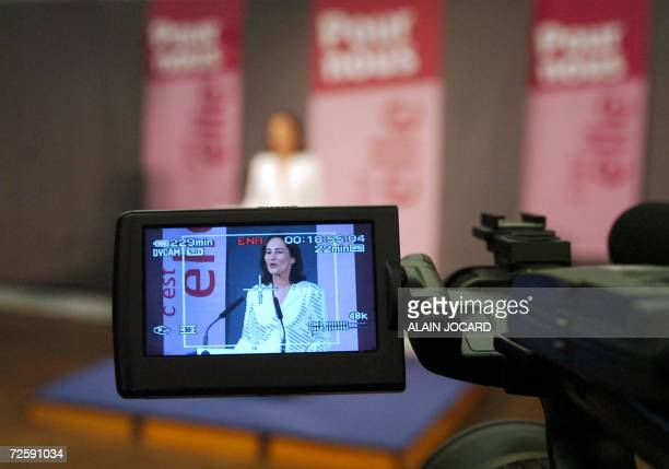French Socialist Party candidate in 2007 presidential elections Segolene Royal gives a speech 17 November 2006 in Melle center France the day after...