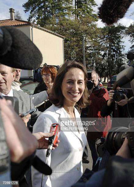French Socialist Party candidate in 2007 presidential elections Segolene Royal leaves after a speech 17 November 2006 in Melle center France the day...
