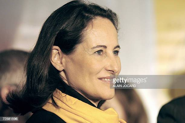 Segolene Royal one of the three candidates for the Socialist nomination in the 2007 French presidential race is pictured 16 November 2006 in Poitiers...