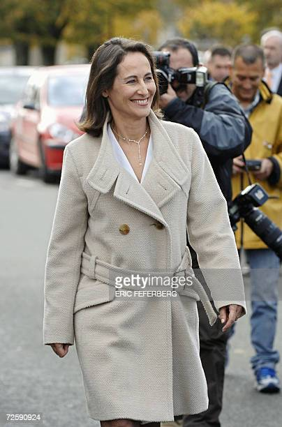 Segolene Royal walks in a street of Melle western France 17 November 2006 on her way to a press conference Segolene Royal's ambition to become...