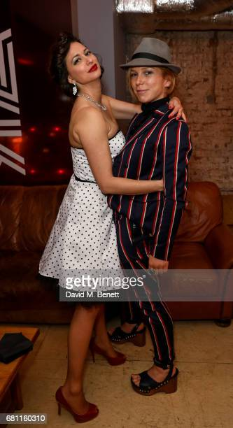 Melli Marie and Honeysuckle Weeks attend the Park Theatre's 4th birthday gala on May 9 2017 in London England