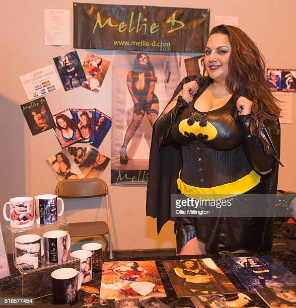 Mellie D atends Comic Con 2016 meeting fans on March 19 2016 in Birmingham United Kingdom