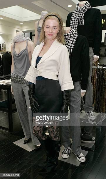 Mellisa Sagemiller during Club Monaco Hosts Cashmere and Cocktails at Club Monaco in Beverly Hills CA United States