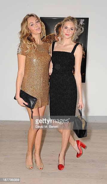 Mellissa Lacy and Tasmin Egerton attends a private dinner and auction celebrating the 25th anniversary of British GQ at The Phillips Gallery on...
