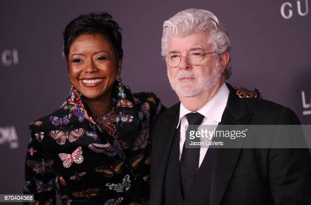 Mellody Hobson and George Lucas attend the 2017 LACMA Art + Film gala at LACMA on November 4, 2017 in Los Angeles, California.