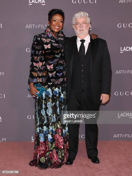 Mellody Hobson and George Lucas attend the 2017 LACMA Art Film gala at LACMA on November 4 2017 in Los Angeles California