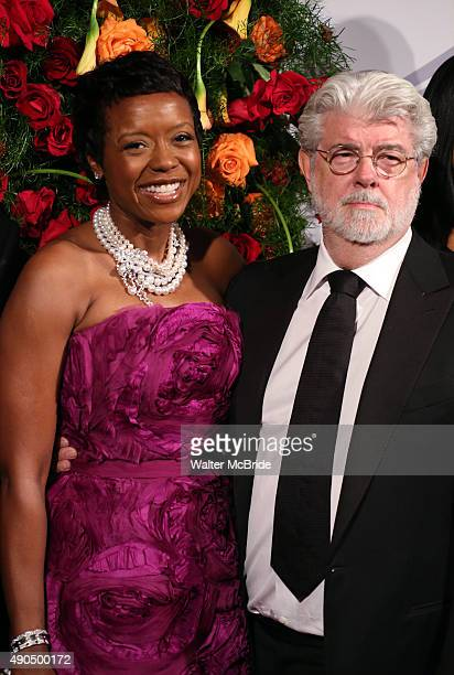 Mellody Hobson and George Lucas attend the American Theatre Wing honors James Earl Jones at the Plaza Hotel on September 28 2015 in New York City